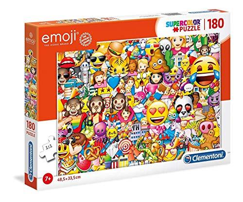 Clementoni 29756 Clementoni-29756-Supercolor Puzzle-Emoji-180 Teile, Mehrfarben, 180pezzi