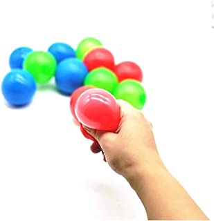 8 Color Sticky Globbles Ball, Sticky Wall Balls Decompression Toys,Globbles Sticky Balls, Stress Relief Wall Balls Decompr...