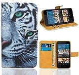 FoneExpert® HTC Desire 728 728G Handy Tasche, Wallet Hülle Flip Cover Hüllen Etui Ledertasche Lederhülle Premium Schutzhülle für HTC Desire 728 728G