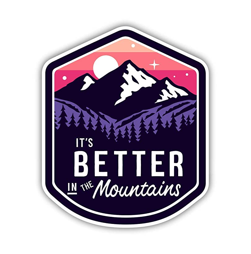 Vinyl Junkie Graphics It's Better in The Mountains Sticker for Auto Cars Trucks Windshield Laptop RV Camper