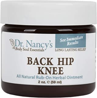 Dr. Nancy's Body Soul Essentials Back Hip Knee All Natural Rub-On Herbal Ointment for Long Lasting Pain Relief