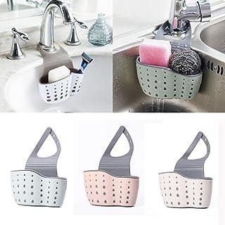 comprar comparacion Nisidier Estante de almacenamiento para fregadero, organizador de escurreplatos de cocina, soporte para jabón