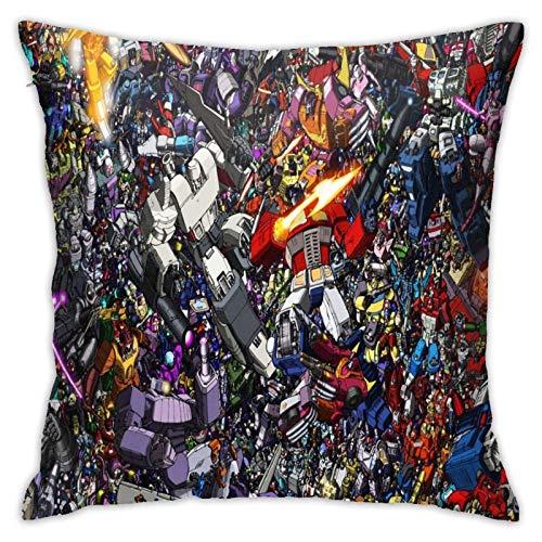songyang Funda de cojín decorativa Gundam cómoda y suave para el sofá, la oficina, el coche, con impresión de doble cara.