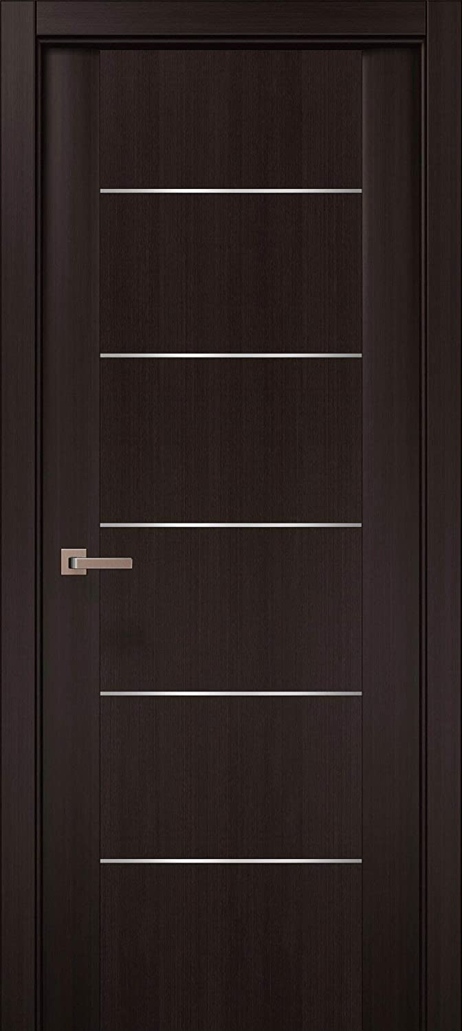 Brown Modern Door 28 x 80 with 3D Complete Free Shipping Strips Wenge trend rank Planum F 0030