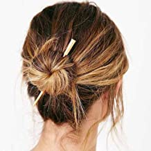 Tgirls Simple Bar Hairpin Vintage Hair Stick Headpieces Bridal Hair Accessories for Women and Girls (Gold)