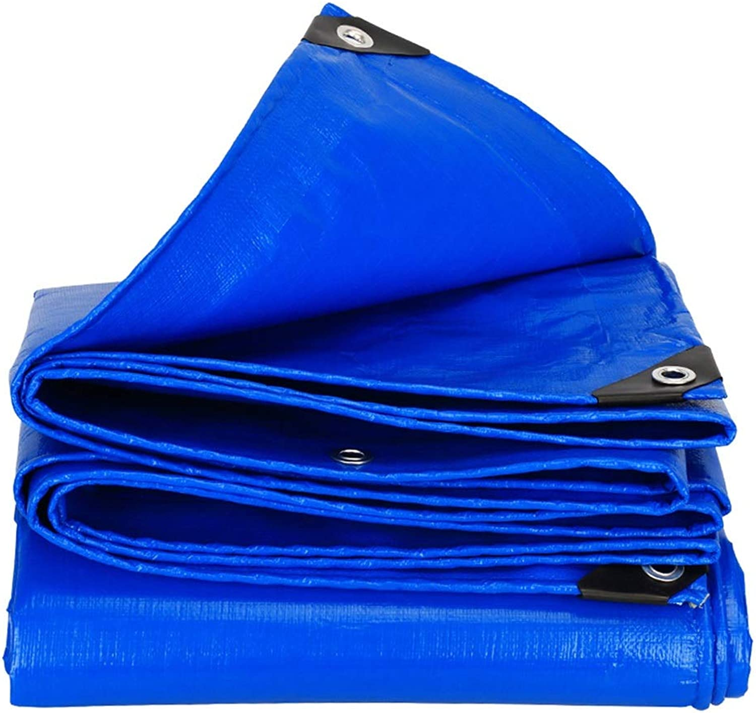Tarpaulin Tarpaulin Awning Outdoor Thickening Rain Cloth Goods Car Shelter Tarpaulin Plastic Oil Sail Awning Cloth Tear Resistant Camping Shelters (color   blueee, Size   500  500cm)