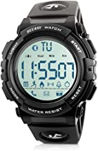 Beeasy Reloj Deportivo Hombre,Relojes Digital Impermeable Watches LCD Inteligente Bluetooth Fitness Tracker Contador Calorías Podómetro Cámara Remota App Notificación de Llamadas SMS