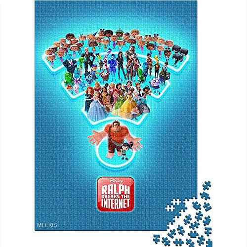 CELLYONE Puzzle für Erwachsene 1000 Teile Ralph Breaks The Internet Movie Poster 1000-teiliges Puzzlespiel-Puzzle Brain Challenge Puzzlespiel Spielzeug 75x50CM(1000pcs)
