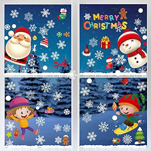 Weihnachten Fenstersticker Weihnachten Selbstklebend Weihnachten Fensterbilder Weihnachten Fensteraufkleber PVC Für Türen Schaufenster Schaufenster Vitrinen Glasfronten Winter Deko Weihnachtsdeko