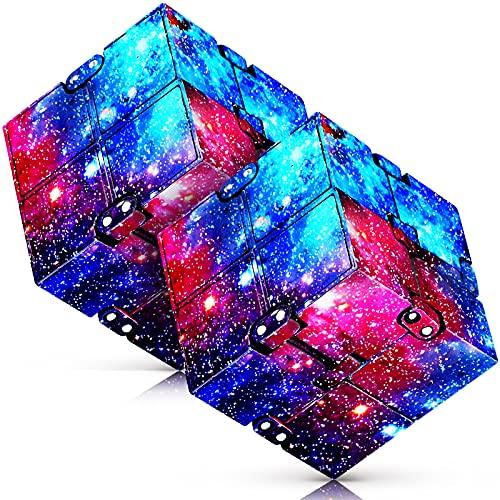 Infinity Cube 2 Pieces Fidget Cube Toy Stress...