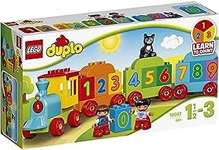 LEGO 10847 DUPLO Siffertåg Barnleksak, Byggset för Små Barn, Pedagogiska Leksaker för Barn 1.5+ år