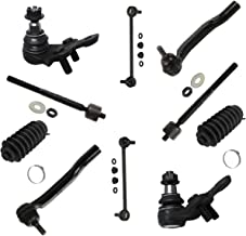 Detroit Axle - New 10pc Kit: (2) Lower Ball Joints and All (4) Inner and Outer Tie Rod Links w/Rack Boots and (2) Sway Bar Links for [2004-2010 Toyota Sienna]
