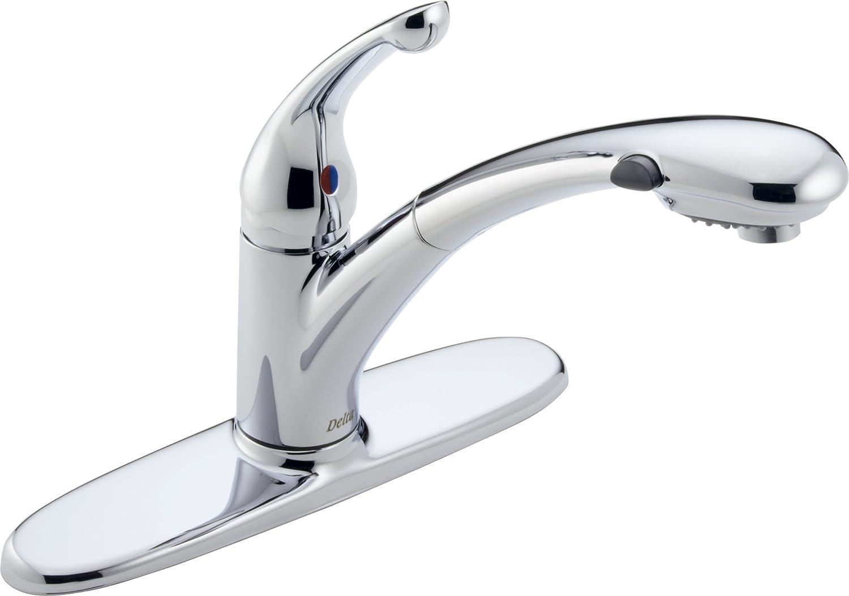 Delta 470-DST Signature Single Handle Pull-Out Kitchen Faucet, Chrome