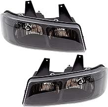 BROCK Driver and Passenger Composite Halogen Headlights Headlamps 03-19 Chevy Express GMC Savana Van 15879433 15879432 GM2502233 GM2503233 1590998 1590997