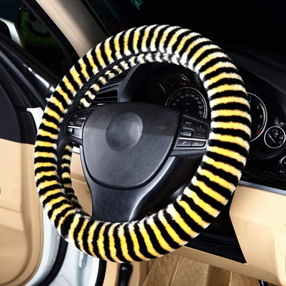 GXJX Max 78% OFF Steering Wheel Time sale Cover Covers Car Winter Plush