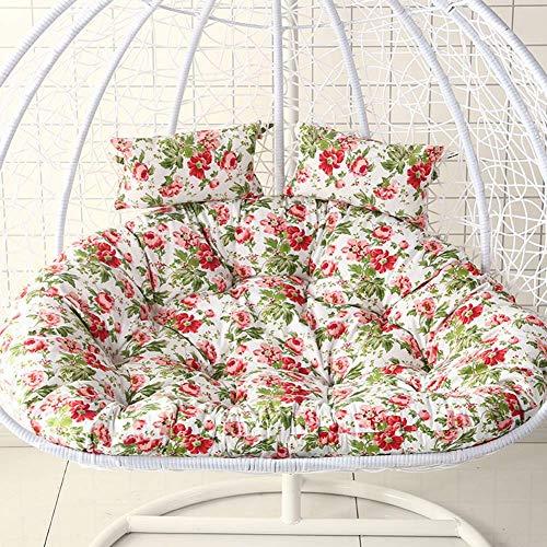 HUHAA Cojines Colgantes para sillas Tipo Hamaca con Forma de Huevo sin Soporte, cojín para Asiento Columpio para Interiores o Exteriores, sillas Colgantes para Nido Grueso, Respaldo con Almohada