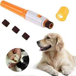 EZONEDEAL Electric Pet Nail Grinder Gentle Painless Paws Grooming, Trimming, Shaping, and Smoothing for Dogs, Cats, Small ...
