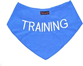 Dexil Training Blue Dog Bandana Quality Personalised Embroidered Message Neck Scarf Fashion Accessory Prevents Accidents by Warning Others of Your Dog in Advance