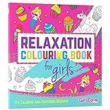 GirlZone Cadeau Fille - Livre De Coloriage - Zen, Relaxation - 114 Jolies Illustrations - Coloriage Enfant, Filles - Livre Coloriage Enfants - Antistress -Cadeau Noël 4 à 11 Ans