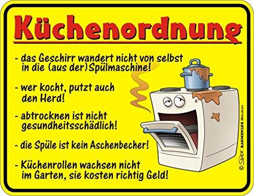 Küchenordnung Alu Schild Alu Flach Neu 17x22cm VR329