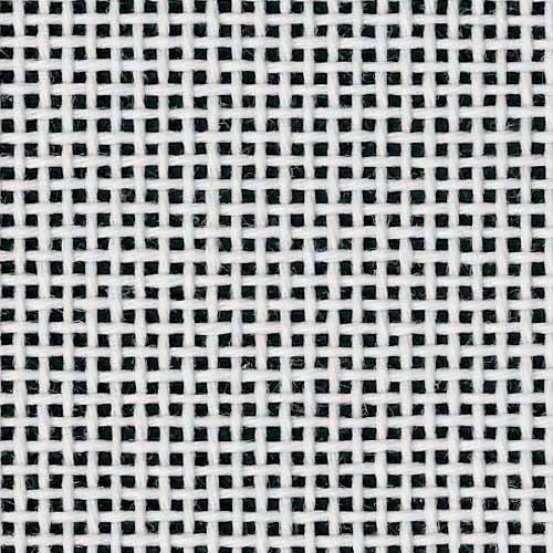 "Zweigart Deluxe Mono Orange Line Needlepoint Canvas, 14 Mesh, White 18"" X 20"""