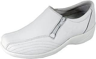 24 Hour Comfort Vera Women Wide Width Elegant Durable Threaded Designed Upper Leather Slip On Work Shoes