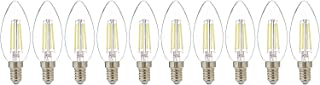 Narken TC 10 Pieces/Pack C35 4W E14 Small Edison Screw Type Warm white 3000K LED Power Saving Classic Clear Filament Bulb ...