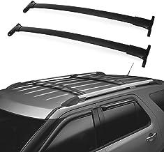 WHEELTECH Roof Rack Cross Bar Rail fit For Ford Explorer 2016-2019 Cargo Racks Rooftop Cargo Luggage Baggage Black Crossbars
