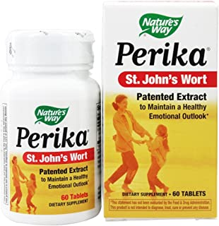 Nature's Way Perika St. John's Wort, 60 Tablets, Pack of 2