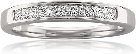La4ve Diamonds 14k White Gold Princess-Cut Diamond 11-Stone Bridal Wedding Band Ring (1/4 cttw, J-K, SI1-SI2)