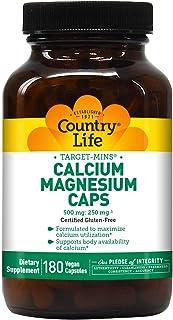 Country Life Target-Mins, Calcium-Magnesium Caps, 180-Count