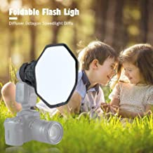 RONSHIN 20cm Octagon Softbox Studio Flash Foldable Light Diffuser Universal Speedlight for Camera Photo Video Photography Electronic Accessories