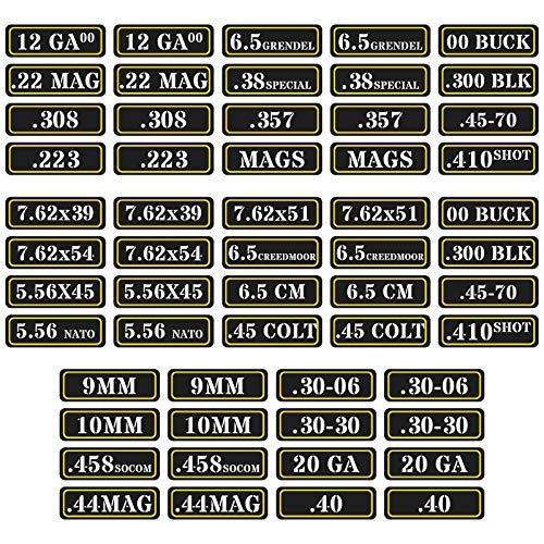 Aolamegs Ammo Can Vinyl Sticker Set Decal Label .357 9mm...