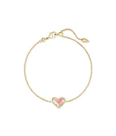 Kendra Scott Ari Heart Delicate Chain Bracelet (Gold Dichroic Glass) Bracelet
