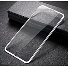 MOCOLO for Apple iPhone 6/7/8 Tempered Glass Screen Protector New Tech 3D Full Coverage 9H Color White Print Front Protective Cover Film [Anti-Fingerprint] [High Definition][1 Pack](Transparency)