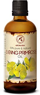 Evening Primrose Oil 100ml - Oenothera Biennis Oil - 100% Pure Best Natural Moisturizer - Great Benefits for Skin - Hair -...