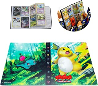 Card Holder Collection Handbook Trading Card Album for Pokemon Holds up to 240 Trading Cards (Raichu)