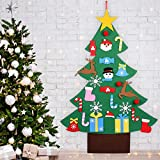 DIY Felt Christmas Tree for Toddlers - Home Decorations Wall Hanging Xmas Children Felt Craft Kits Christmas Decoration Party Supplies