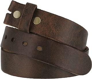 "Fullerton 384002 Genuine Full Grain Vintage Distressed Leather Belt Strap 1-1/2"" (38mm)"