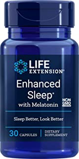 Life Extension Enhanced Sleep with Melatonin, 30 Capsules