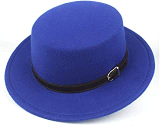 ZHANGCHANG Men Women Authentic Monotonous Top Fedora Hat Jazz Hat for Gentleman Casual Hazardous Fascinator Hat Size 56-58CM