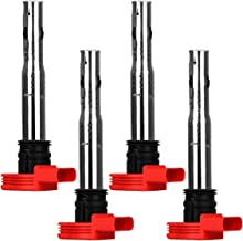 Ignition Coil Pack Set of 4 Replaces OE# 06E905115E for Audi A4 A5 A6 A7 Q5 Q7 R8 S4 S5 S6 S8 SQ5 & VW Touareg & Porsche Cayenne Panamera - 2 Yr Warranty
