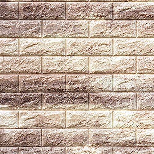 レンガ タイル ブロック 壁紙 壁用 リフォーム シート ブリック 立体 クッション 子供部屋 ウォールステッカー DIY のり付き