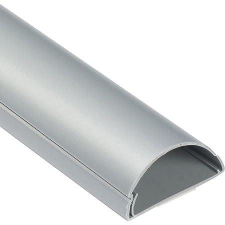 Nailon Organizador Cables con Cremallera para Escritorio y sal/ón Relaxdays Gris 1 m x diametro 30 mm