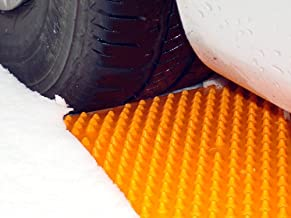 Portable Tire Traction Mats - Two Emergency Tire Grip Aids Used To Get Your Car, Truck, Van or Fleet Vehicle Unstuck In Snow, Ice, Mud, And Sand - Orange, 2 Pack