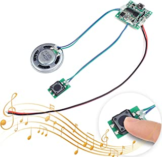 Icstation Recordable Sound Module Button Control 8M MP3 WAV Music Voice Player Programmable Board with Speaker for Childre...