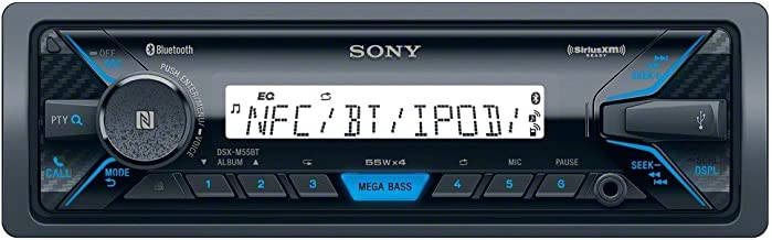 Sony DSX-M55BT Marine Digital Media Receiver with Bluetooth USB Input (Renewed)