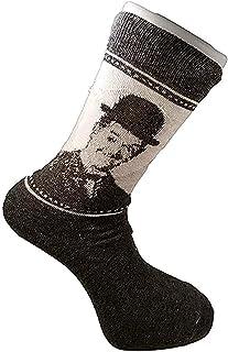 Laurel and Hardy Adult Mens Cotton Socks (US: 7-12, UK: 6-11)