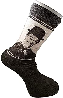 Laurel and Hardy Adult Mens Cotton Socks (US: 7-12, UK: 6-11)