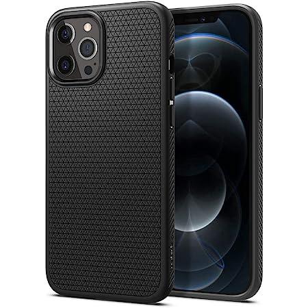 Spigen iPhone 12 Pro Max 用 ケース 6.7インチ 新型 TPU ソフトケース 滑り止め 耐衝撃 米軍MIL規格取得 カメラ保護 傷防止 衝撃吸収 Qi充電 ワイヤレス充電 アイフォン12プロマックスケース リキッド・エアー ACS01617 (マット・ブラック)